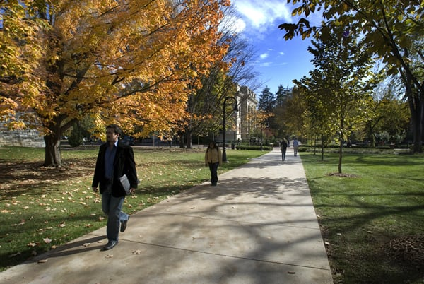 The University Park Campus -- beautiful in the fall with changing leaves.