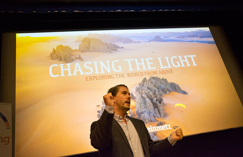 Introducing George Steinmetz's presentation, Chasing the Light