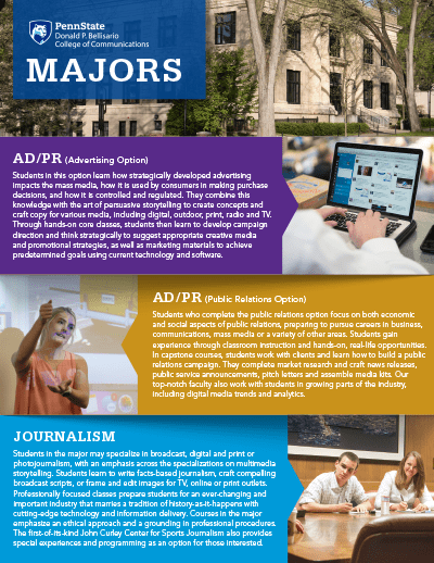 Bellisario College Brochure Cover - All Majors