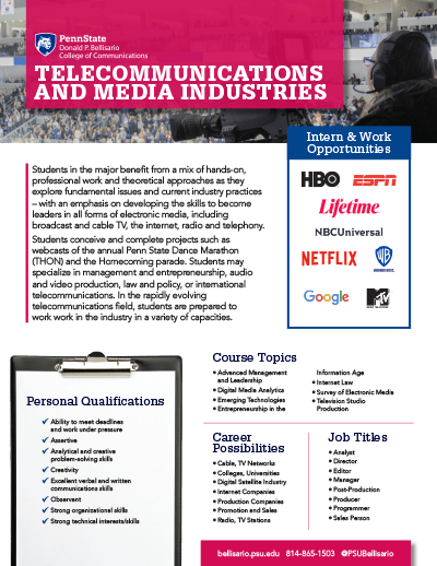 Bellisario College Brochure Cover - Telecommunications