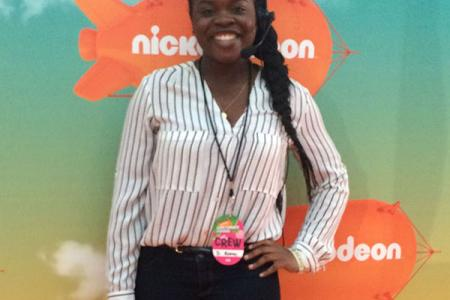 Penn State Hollywood Program student Dorisa Rodney at the Kid's Choice Awards.