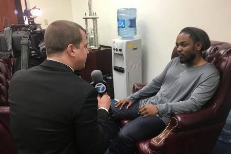 Hollywood Program student Ben Bobick interviewed Grammy Award-winning rapper Kendrick Lamar.