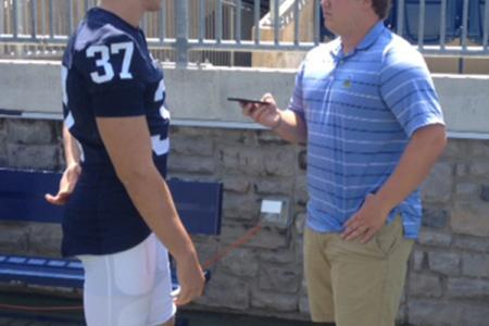 John McGonigal interviews kicker Chris Gulla.