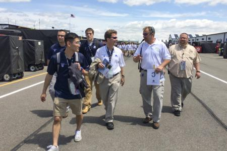 Curley Center students tour Pocono Raceway at the start of their workday at the track. (Photo by Bill Zimmerman)