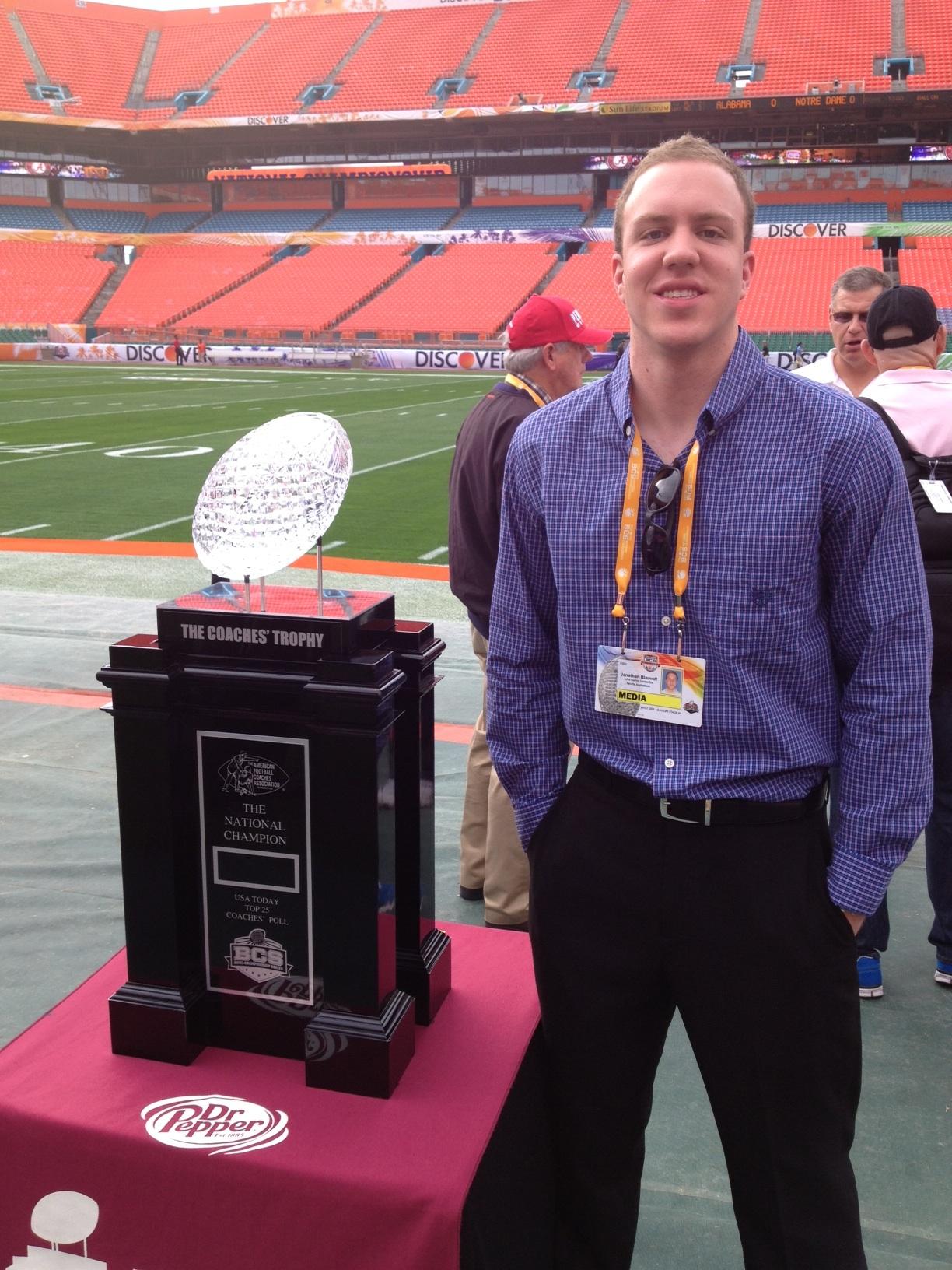 Jon Blauvelt w/BCS trophy