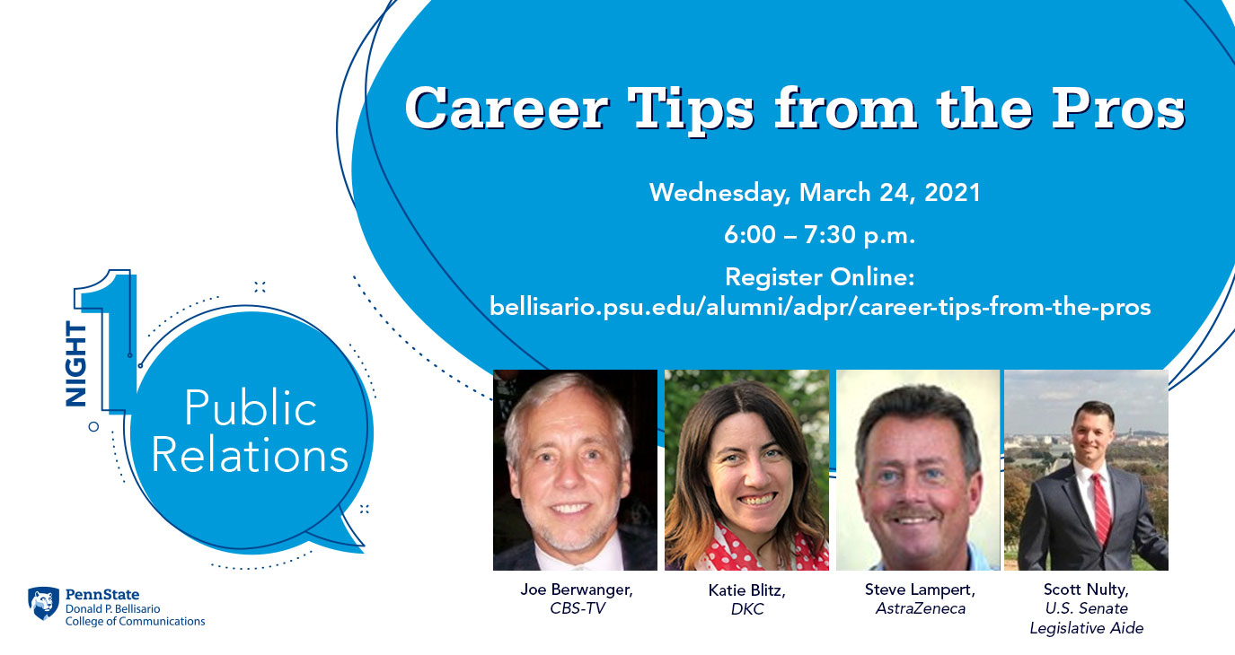 Career Tips, Night 1 graphic