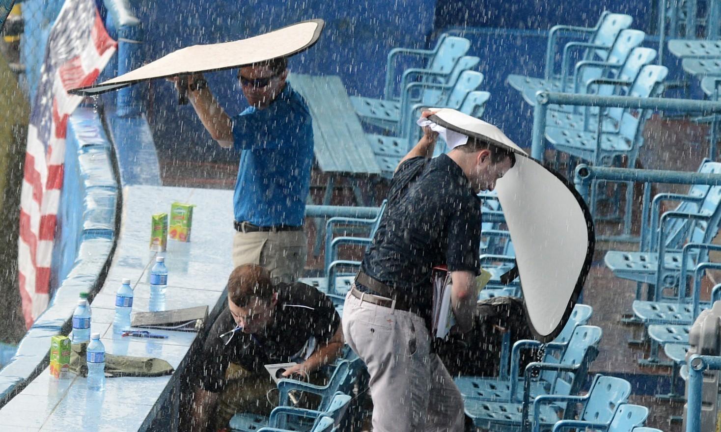 Cuba downpour