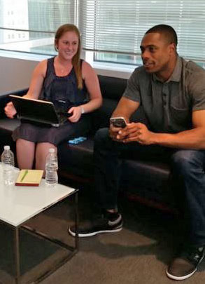 Emily Kless, Emily Kless with Curtis Granderson