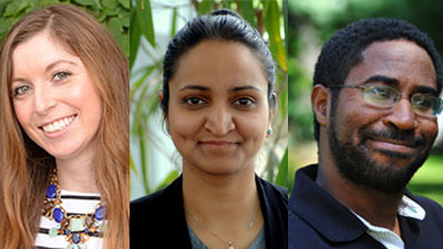 Jenna Grzeslo, Akshaya Sreenivasan, and Steve Bien-Aime