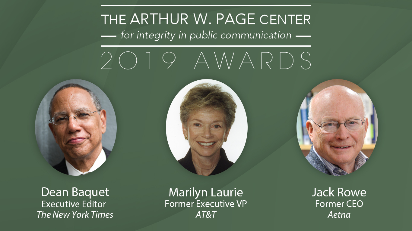 The 2019 Arthur W. Page Center Awards