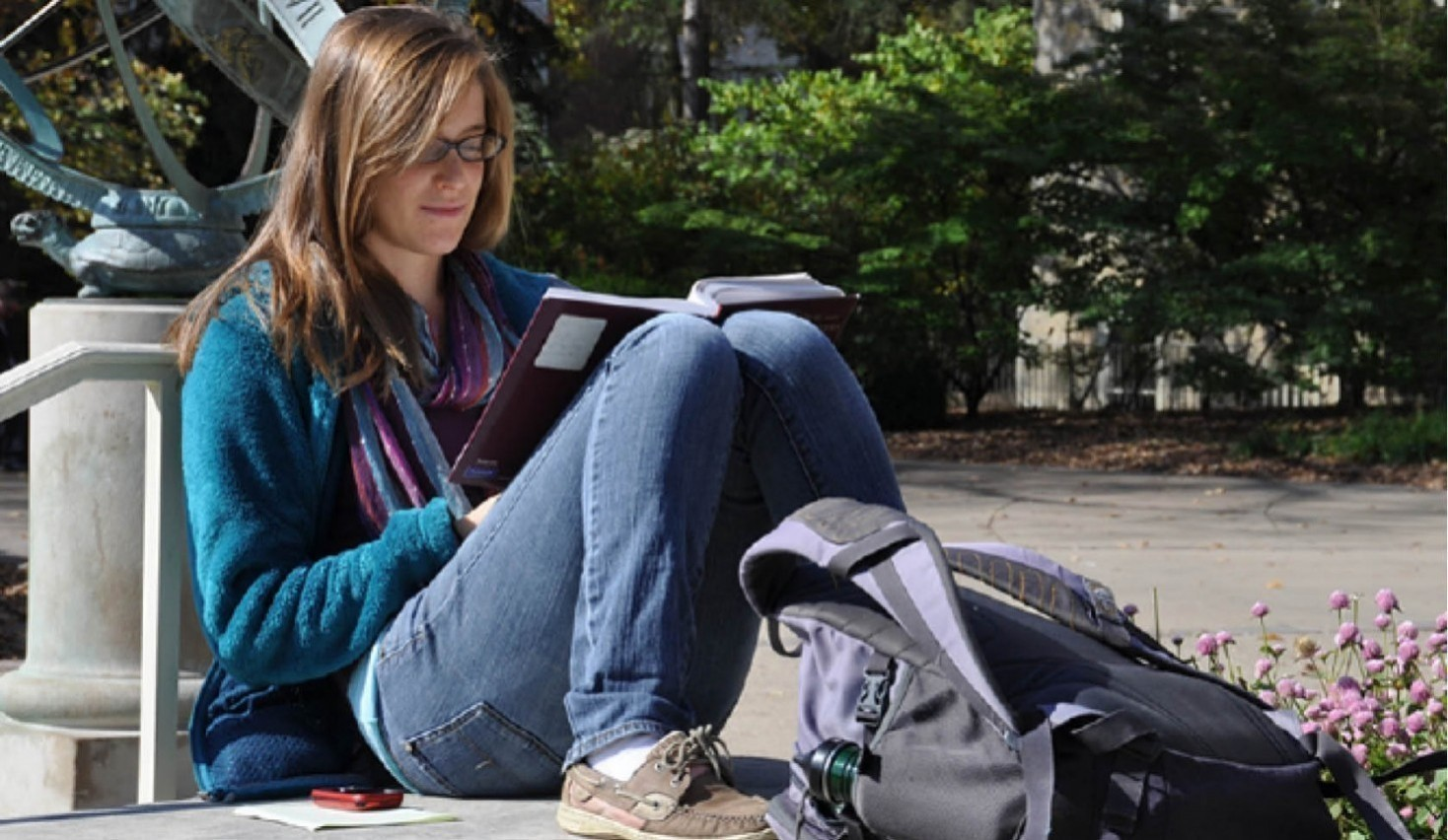 Penn State student studying during summer session