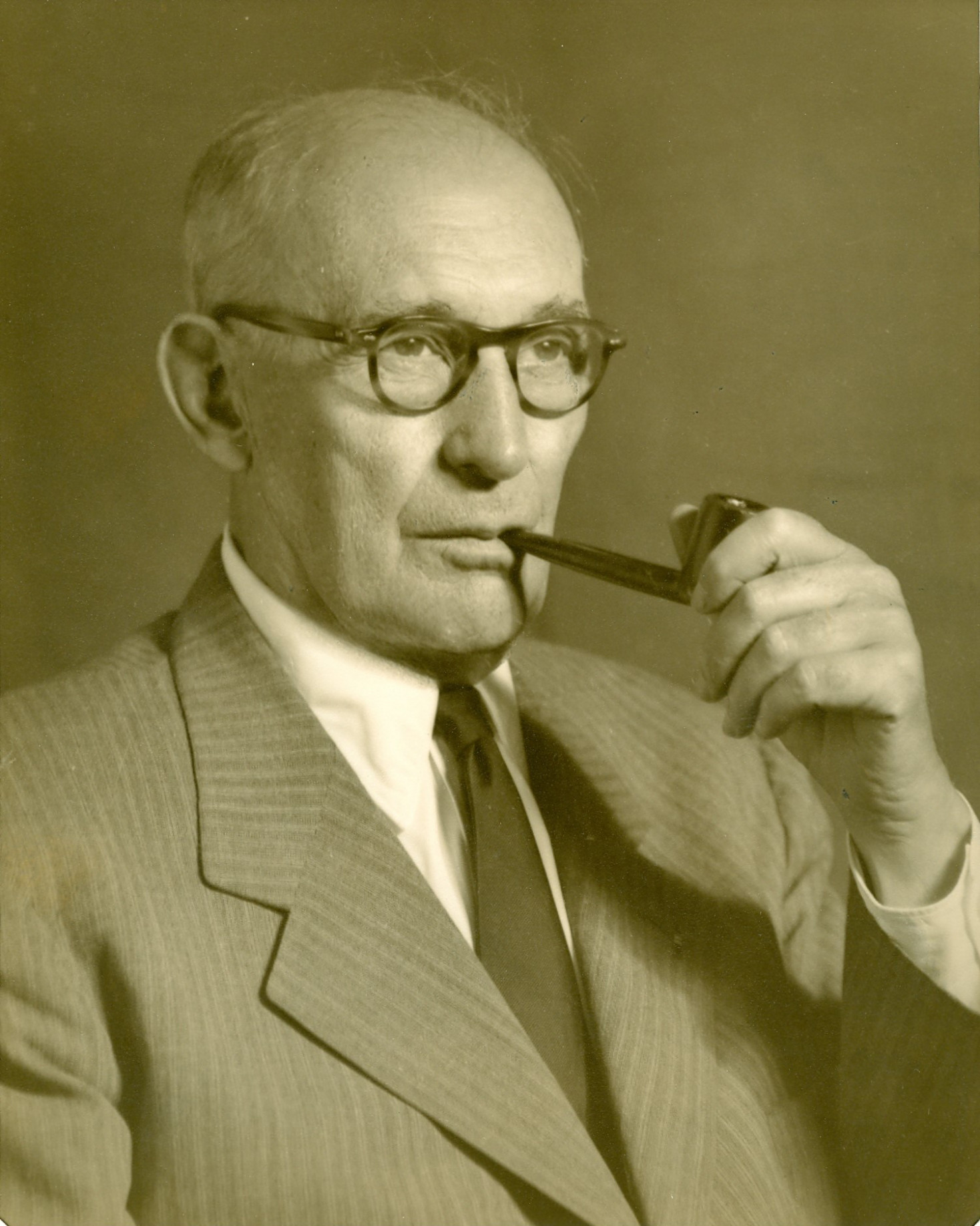 Arthur W. Page with his pipe