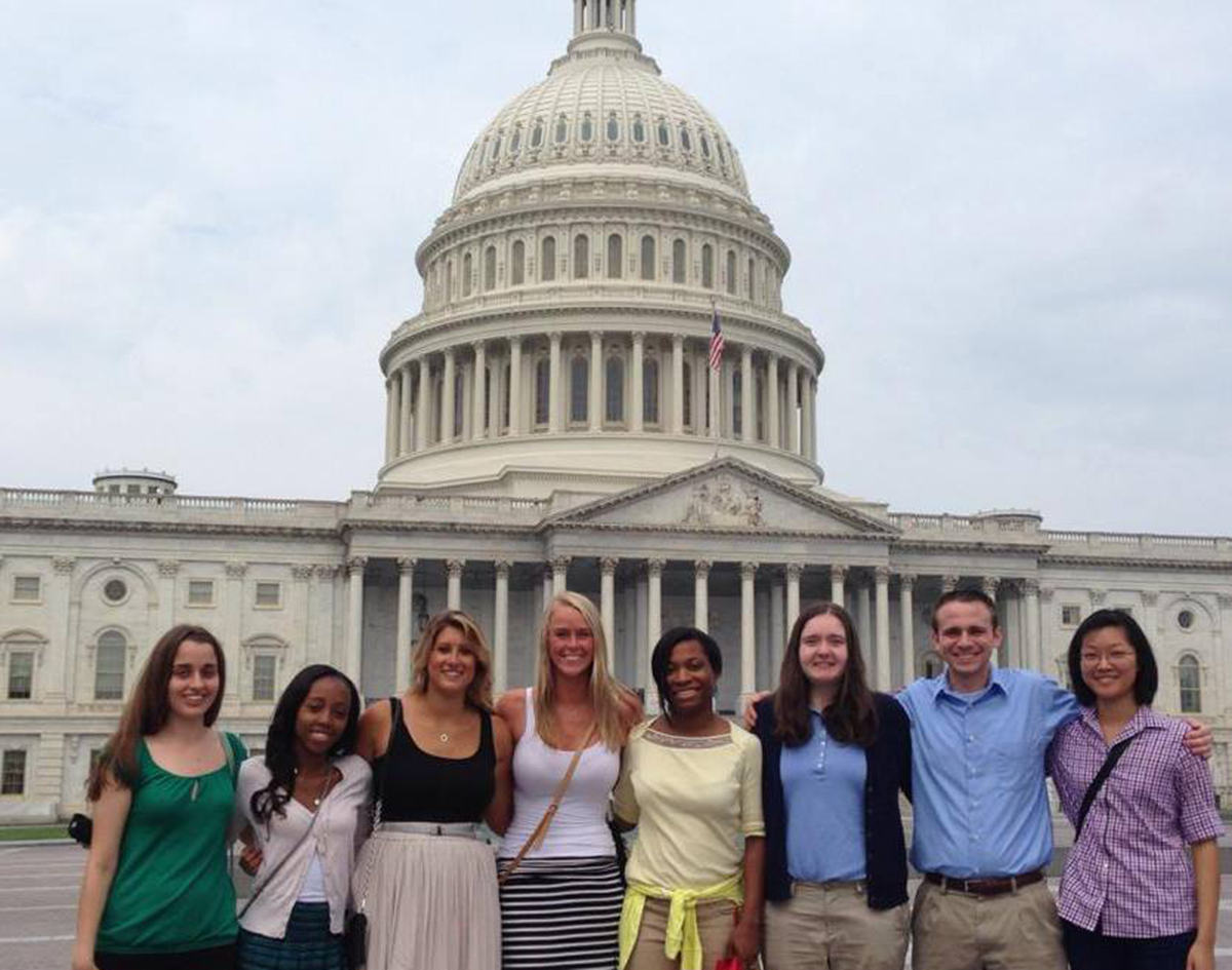 Penn State students at capitol