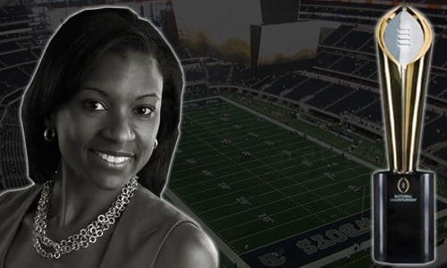 Laila Brock, Director of Team Operations and Logistics, College Football Playoff