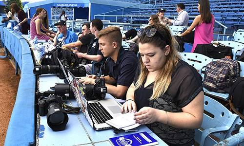 Students cover historic Penn State baseball trip to Cuba.