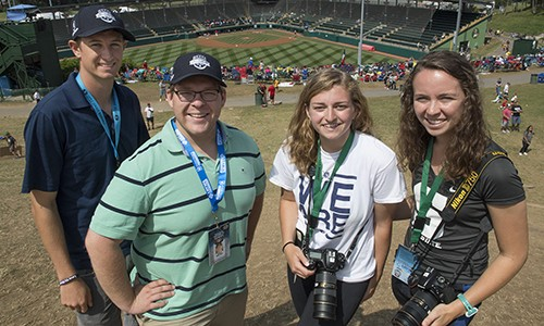 Little League World Series, 2017, Five students, including two writers and three photographers, gained hands-on experience covering the Little League World Series.