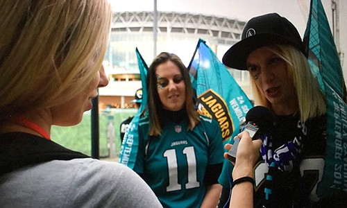 NFL in London, 2017, Students cover the NFL in London for the Miami Herald and the Sports Business Journal.