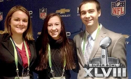 Curley Center student coverage from Super Bowl XLVIII