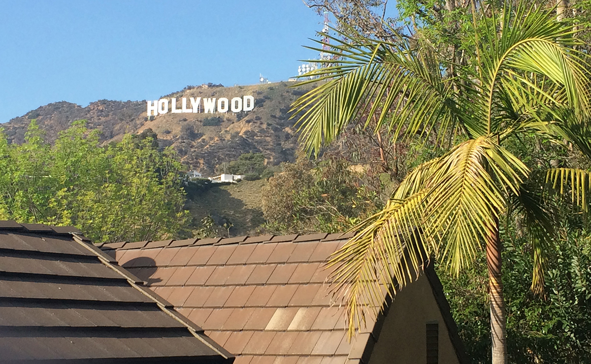 Hollywood sign view