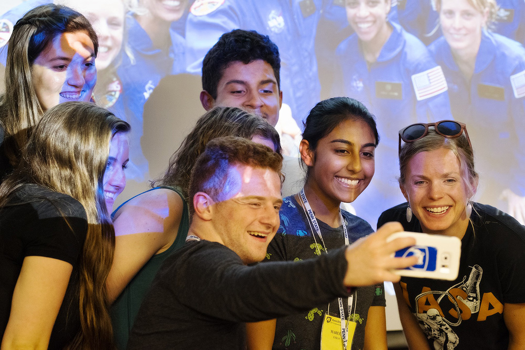 Multimedia campers snap a selfie