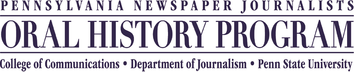Pennsylvania Newspaper Journalists Oral HIstory Program