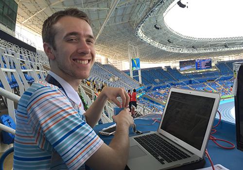 Reporter Garrett Ross