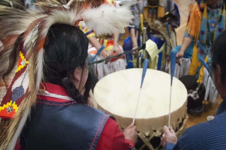 Group of drummers at the 2014 Powwow
