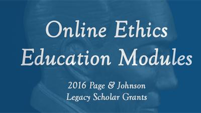 Arthur W. Page Center online modules
