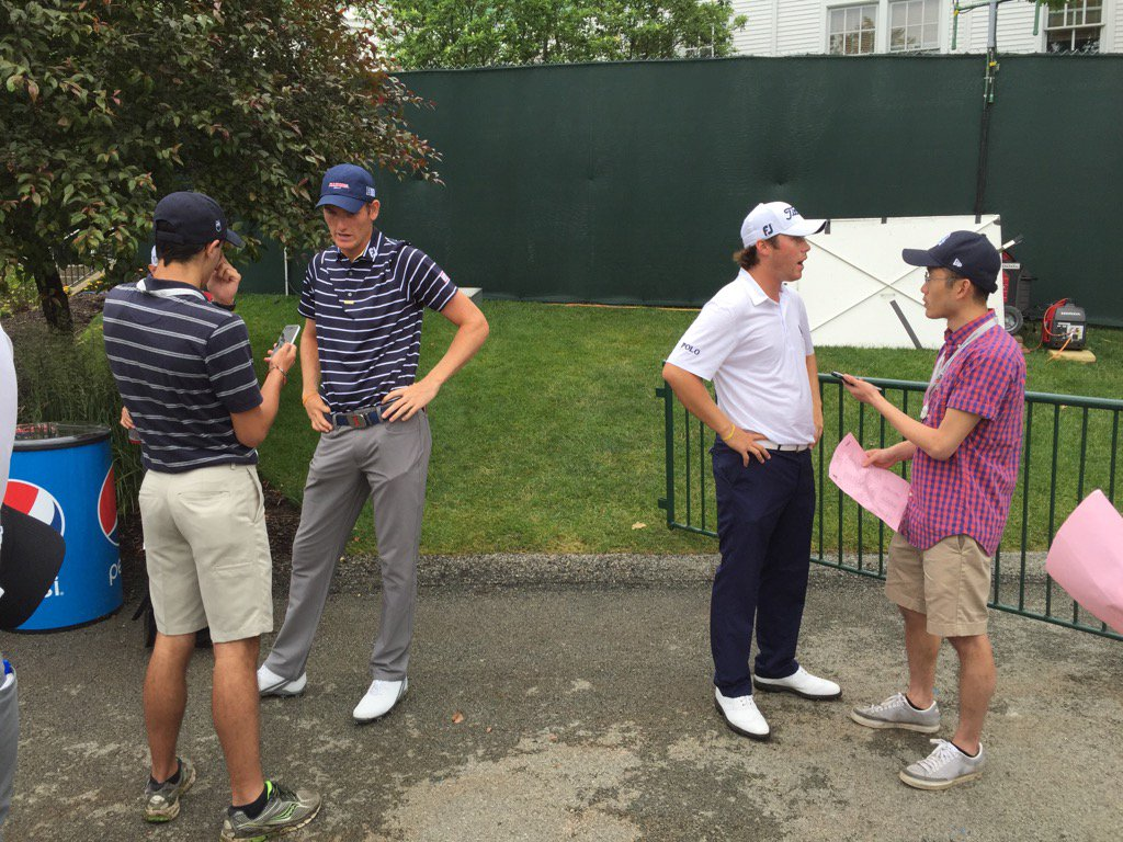 Students conduct interviews at U.S. Open