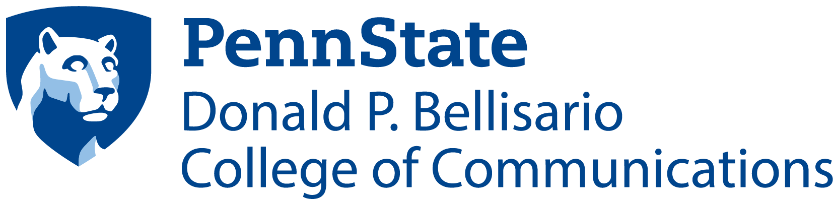 The Donald P. Bellisario College of Communications at Penn State Logo