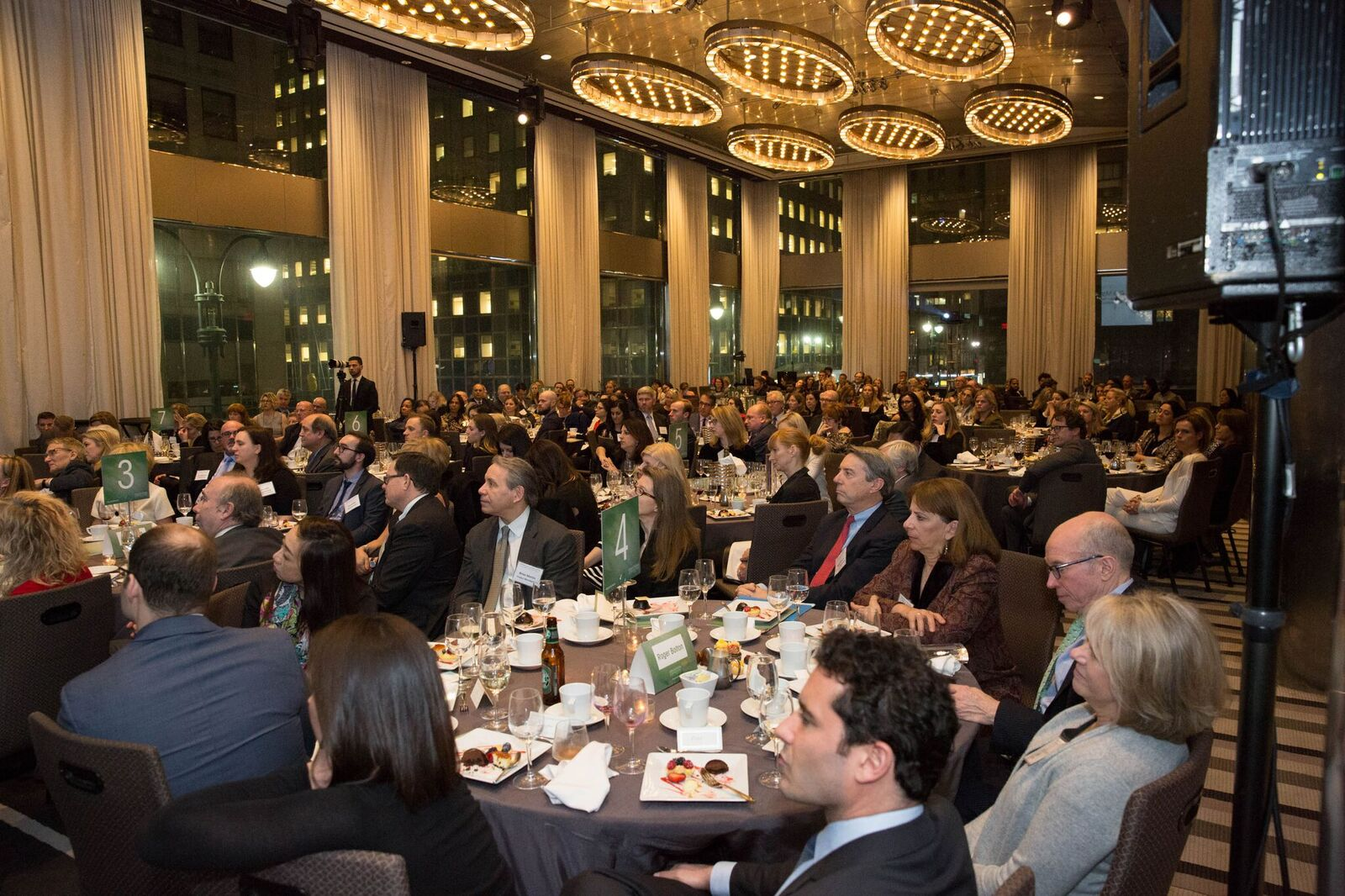 Nearly 230 people attended the inaugural Page Center Awards dinner.