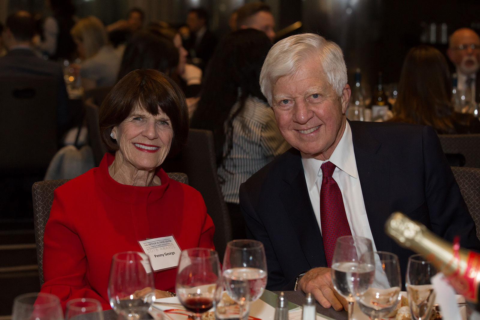 2018 Larry Foster Awards honoree Bill George and his wife Penney.